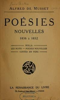 Alfred de Musset Poésies Nouvelles