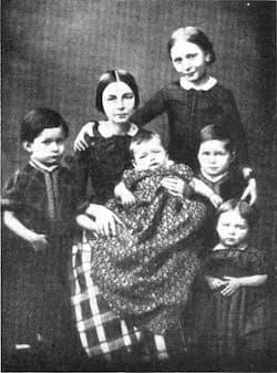 Clara Schumann with the children