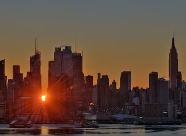 Sunrise and the Empire State Building