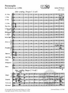 Webern's Passacaglia Op. 1