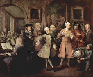 William Hogarth's A Rake's Progress: II – The Levée