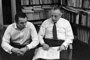 Arvīds and Mariss Jansons