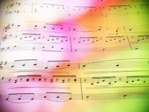 Colours on music score