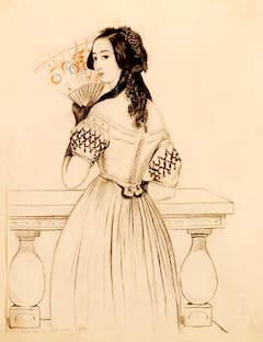 Drawing of George Sand by Alfred de Musset