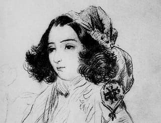 Drawing of George Sand by Alfred De Musset, 1833
