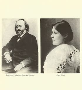 Max Bruch and Clara Tuczek