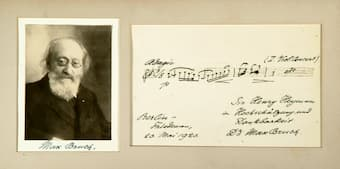 Bruch gift for Henry Heyman 1920