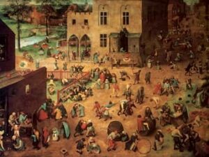 Pieter Bruegel, Children's Games (Kunsthistoriches Museum, Vienna) (1560)