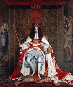 Coronation portrait of King Charles II