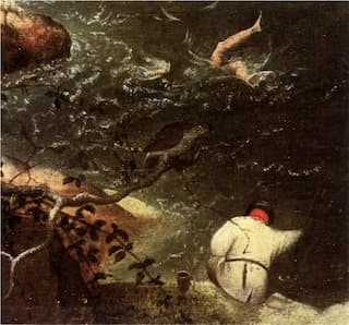 Detail from Landscape with the Fall of Icarus by Pieter Bruegel, inspiration for La Chute d'Icare