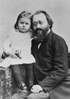 Max Bruch with his daughter Margaretha