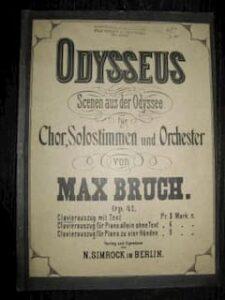 Max Bruch Oratorio Odysseus