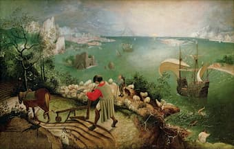 Landscape with the Fall of Icarus by Pieter Bruegel, inspiration for La Chute d'Icare