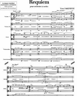 Tōru Takemitsu's Requiem