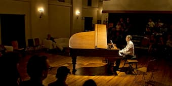 "Pianist Scott Dunn delivers a 2012 performance of Satie's ""Vexations"" at the Miles Memorial Playhouse in Santa Monica."