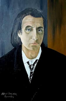 Portrait of Alfred Schnittke by Reginald Gray, 1972