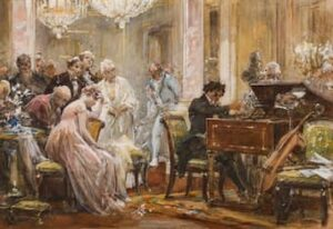 Beethoven playing the piano
