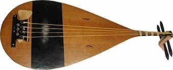 """Non-western instrument """"biwa"""" (short-necked lute)"""