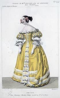Costume design for Cornelie Falcon as Leonore in opera Stradella by Louis Niedermeyer