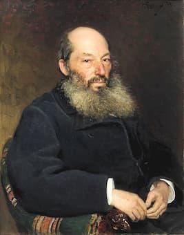 Portrait of Afanasy Afanasyevich Fet by Ilya Repin, 1882