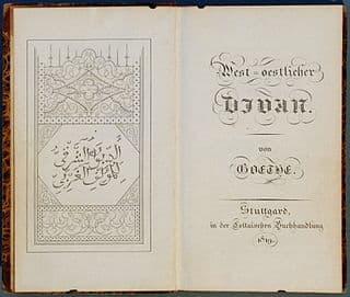 West–östlicher Divan by Johann Wolfgang von Goethe