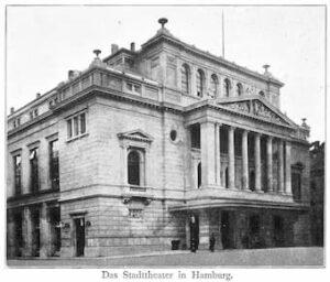 Hamburg Stadttheater around 1890-1891