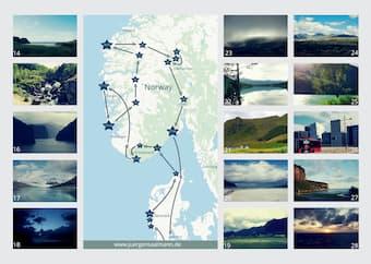 Places that Jürgen Saalmann visited in the 28 days