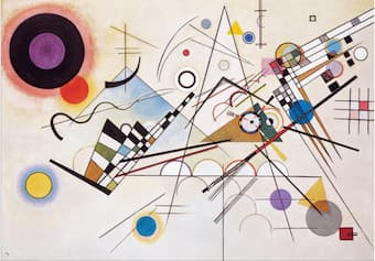 Wassily Kandinsky's Composition VIII uses atonality of Schoenberg as the main subject