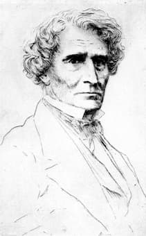 Portrait of Berlioz by Alphonse Legros