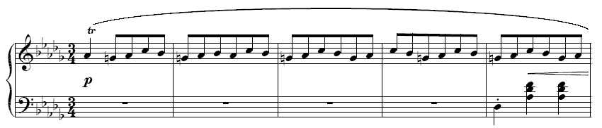 Opening of Chopin's Minute Waltz