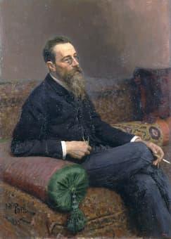 Ilya Repin: <em>Portrait of Composer Nikolai Andreyevich Rimsky-Korsakov</em> (1893) (State Russian Museum)