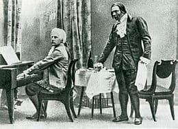 Vasiliy Shkafer as Mozart and Fyodor Chaliapin 1898 as Salieri in Opera