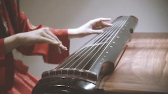 Ancient Chinese stringed instrument Guqin
