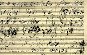 A page from Beethoven's Cello Sonata No. 3 in A Major
