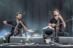 Croatian musicians Luka Sulic and Stjepan Hauser - 2CELLOS