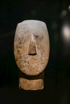 A Cycladic Head (Museum of Cycladic Art, Athens)