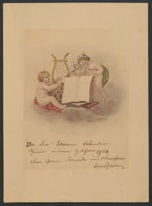 Beethoven's greeting card to Dorothea Ertmann, 1803/1804.