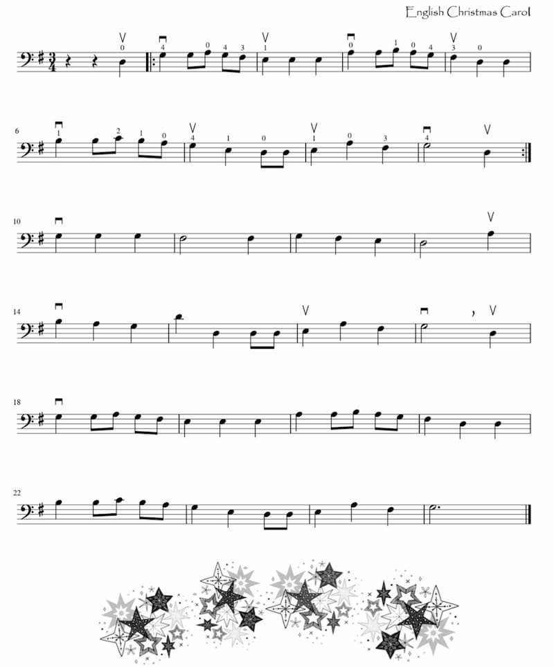 Christmas English Carol Score
