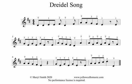 Popular Chanukah song Dreidel Song