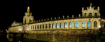 Dresden's Zwinger Castle at Night
