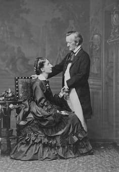 Richard and Cosima Wagner (photograph by Fritz Luckhardt, 9 May 1872)