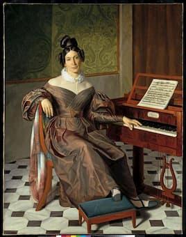 Portrait of Isabella Colbran by Johann Baptist Reiter (c.1835)