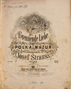 Josef Strauss' Brennende Liebe, Op. 129