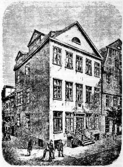 Birthbouse of Felix Mendelssohn and Ferdinand David in Hamburg