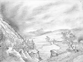 Mendelssohn sketch of Killiecrankie