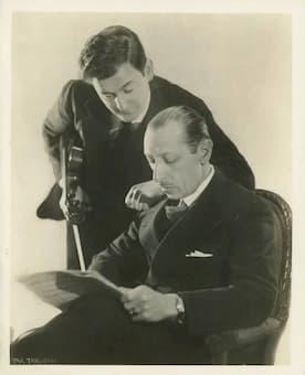 Violinist Samuel Dushkin and Stravinsky