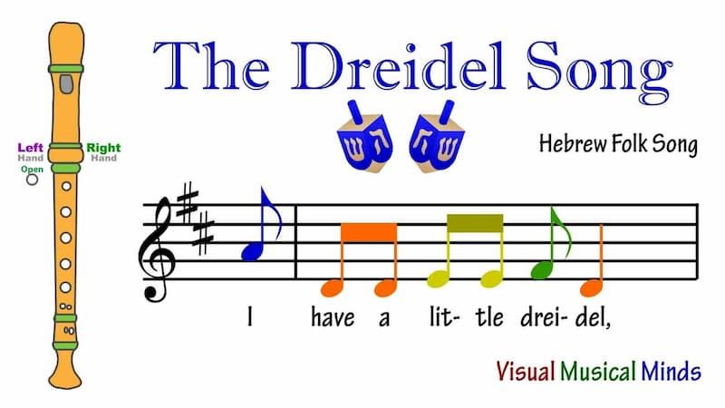 The Dreidel Hebrew Song