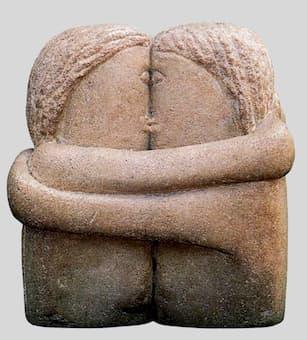 Brâncuși: The Kiss (1907) (Philadelphia Museum of Art)