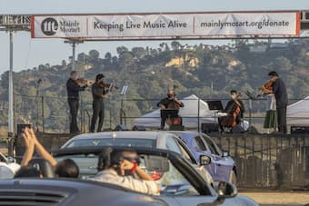 The Mainly Mozart Festival drive-in concerts