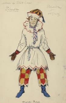 Benois: Petrushka Costume for Nijinsky (1911)